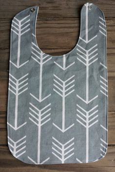 Long Baby Bibs - Grey Arrows by TheLaceTable on Etsy