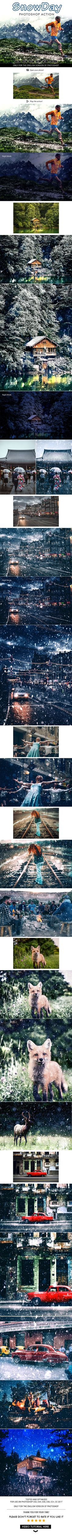 SnowDay Photoshop Action