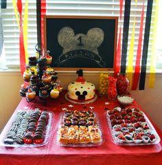 Mickey Mouse dessert bar I made :)