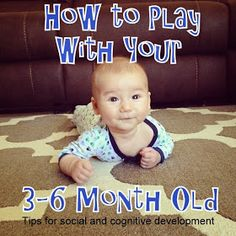 Diary of a Fit Mommy: Activities to Do With a 3-6 Month Old!