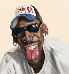 Dennis Rodman FOLLOW THIS BOARD FOR GREAT CARICATURES OR ANY OF OUR OTHER CARICATURE BOARDS. WE HAVE A FEW SEPERATED BY THINGS LIKE ACTORS, MUSICIANS, POLITICS. SPORTS AND MORE...CHECK 'EM OUT!! Anthony Contorno Sr