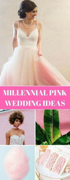 Millennial Pink Wedding Ideas | Pink Wedding Gown, Pink Wedding Decor and so much more! Click to see more Pink Wedding Inspiration.