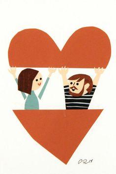 Love Illustration, Portrait Illustration, Character Illustration, Christian Robinson, Happy Anniversary, Art Drawings, Collage, Art Gallery, Artwork