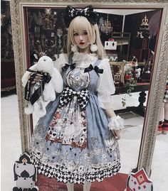 Diamond Honey -Gothic Alice- Gothic Lolita JSK and Matched Headbow Harajuku Fashion, Kawaii Fashion, Cute Fashion, Rock Fashion, Gothic Lolita Dress, Gothic Lolita Fashion, Lolita Style, Estilo Lolita, Lolita Cosplay