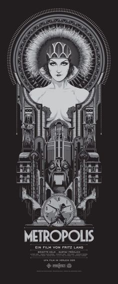 """Metropolis"" by Ken Taylor. 15″ x 36″ Screenprint. Ed of 400 S/N."