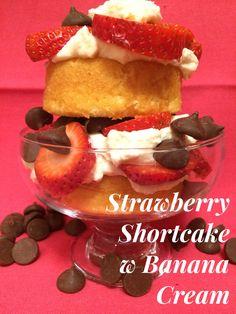 Strawberry|shortcake|banana|cream|BK Creamery|double cream|dessert|vegetarian|healthy