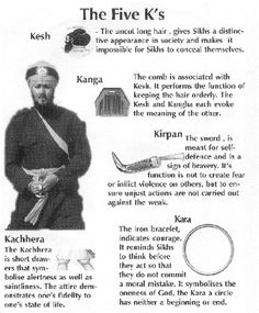 Sikhism - The Five K's and their meanings