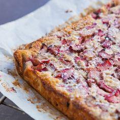 Taste of the week: Ruby rhubarb bars. Patricia Wells