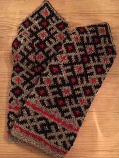 Latvien Mitten, knitted Latviske strikkevotter