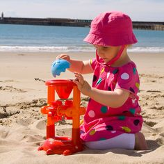 Your little one can scoop sand and water into the funnel and watch in delight as the brightly coloured cogs spin around and the load filters down into the turtle's back. Bright Colors, Colours, Water Mill, Sand And Water, Cogs, Bath Toys, Spin, Turtle, Filters
