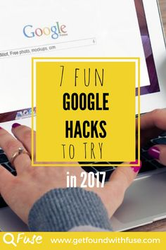 7 fun and Easy Google Hacks for SEO in 2017. If you are a creative blogger or photographer, check out these DIY SEO tips and advice and get found in 2017.