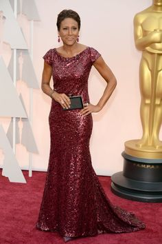 Pin for Later: See Every Star on This Year's Oscars Red Carpet! Robin Roberts