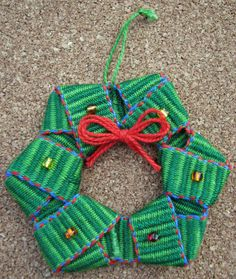 Jennifer Williams does it again! This time she shows how to make two creative Christmas ornaments from woven bands.