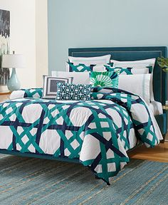 Trina Turk Pacifica Pier Lattice Comforter and Duvet Sets - Bedding Collections - Bed & Bath - Macy's