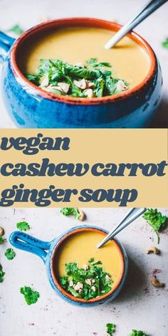 A deliciously creamy Vegan Carrot Cashew Ginger Soup quickly and easily made as a dump and start recipe for the Instant Pot or on the stovetop. Vegan, dairy-free, gluten-free, soy-free and refined sugar-free. #carrotsoup #cashewsoup #gingersoup #instantpotcarrotsoup #carrotcashewgingersoup Lentils Instant Pot, Fall Recipes, Vegan Recipes, Carrot Ginger Soup, Pressure Cooking Recipes, Still Tasty, Vegan Lunches, Vegan Soup, Dairy Free