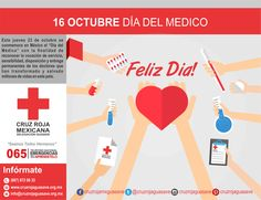 Desde el año 1937 se festeja en México el Día del Médico. La fecha coincide con la creación del Establecimiento de Ciencias Médicas en 1833. En este país, según datos del Instituto Nacional de Estadística y Geografía (INEGI), hasta el 2014 habían registrados unos 343.700 médicos. #NuestrosPrincipiosenAccion #CruzRojaMexicana #CruzRojaGuasave