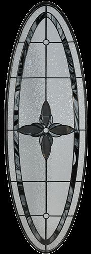 Stained Glass Door Inserts - Pristine Big Oval Patina Stocked by Randal's Wrought Iron & Stained Glass serving the Greater Toronto Area and surrounding areas.