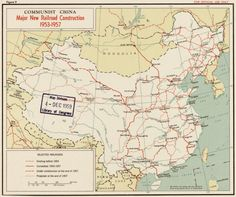 China: Major new railroad construction 1953-1957 (1959)