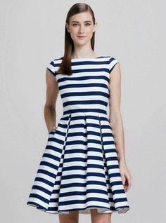 Kate Spade New York Mariella Dress In French Navy Petula Stripe. #FindItFollowIt