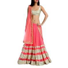 Salwarr.com Pink Designer Lehenga