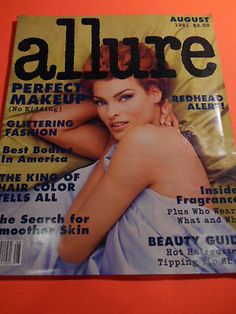 ALLURE MAGAZINE AUGUST 1991 PERFECT MAKE UP BEAUTY HAIR FASHION 2996- Linda Evangelista Beauty Skin, Beauty Makeup, Hair Beauty, Linda Evangelista, Magazine, Hair Styles, Tips, How To Make, Ebay
