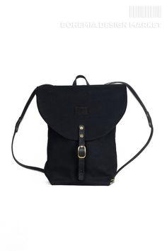 Black rucksack - bagpack #limited #edition #traveler ##backpack #element #original #local #production #black  #rucksack #travel #nomad Rucksack Backpack, Black Backpack, Leather Backpack, Bohemia Design, Backpacks, Stuff To Buy, Handmade, Bags, Travel