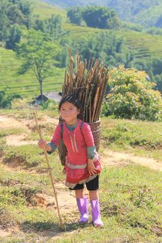 Little girl in Sapa, Vietnam