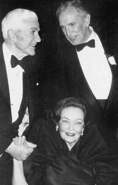 Dana Andrews, Gene Tierney and Vincent Price at a function honoring Laura (1944) in 1984.
