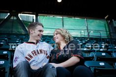 Engagement photography AT park baseball San Francisco SF giants idea couples wedding love city MLB Meghan Heiser photography California northern