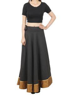 Elastic Skirt From Jaipur In Black - PJRSED28FB10