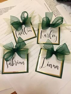 Custom Sorority Recruitment / Rush Name Tags by xoxocraftco