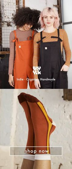 Shop new in range of Lucy & Yak - latest dungarees, pants, tees and dresses. Cool Outfits, Fashion Outfits, Fashion Coat, Fashion Shirts, Men's Fashion, Ethical Clothing, Ethical Fashion, Boho Look, Dungarees
