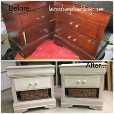 Transformation Tuesday: How To White Wash Furniture