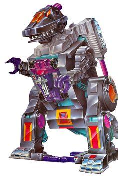 Trypticon G1 toy box art.