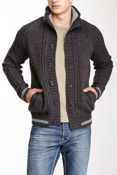 Striped Trim Knit Sweater