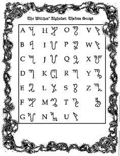 Wicca - Witch Alphabet