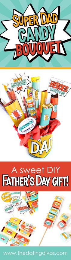 Geschenk Vatertag: Superhero Father's Day Gift Ideas - The Dating Divas - - jully Handmade Gifts For Husband, Homemade Fathers Day Gifts, Diy Gifts For Men, Diy Father's Day Gifts, Fathers Day Presents, Father's Day Diy, Fathers Day Crafts, Gifts For Father, Homemade Gifts