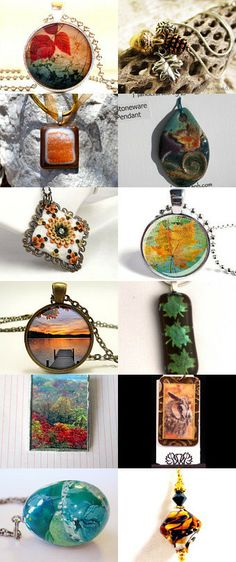 Arenlace Monday Autumn Pendant by Michelle Coto on Etsy--Pinned with TreasuryPin.com