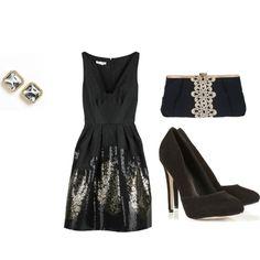 Black, sparkly