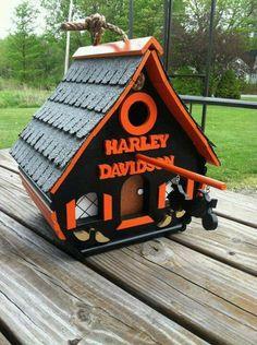 Harley Davidson bird house  awesome!