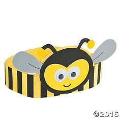 Add this sweet craft for kids to your supply stash! This adorable Bee Headband Craft Kit lets little ones create their own DIY photo booth props and pretend . Bees For Kids, Bee Crafts For Kids, Preschool Crafts, Headband Crafts, Hat Crafts, Bee Hat, Diy Photo Booth Props, Spring Hats, Spelling Bee