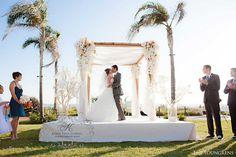 Tropical Island Wedding Chuppah