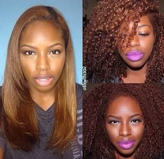 Love her Hair color - 3 Key Things to Consider Before Dyeing Natural Hair Dyed Natural Hair, Natural Hair Tips, Natural Hair Journey, Natural Curls, Dyed Hair, Natural Hair Styles, Natural Hair With Color, Hair Color For Dark Skin, Natural Things
