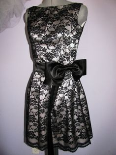 SALE 20% OFF  Black lace  cocktail dress, bridesmaid dress , size XS ready to ship. $80.00, via Etsy.