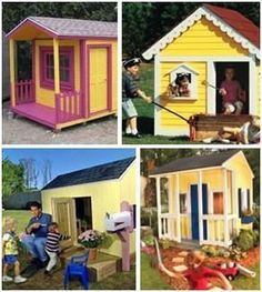 12 Free DIY Playhouse Plans – Thrill your favorite child with a new playhouse that you build yourself. Choose from a variety designs and then download free plans and building guides. #diyplayhouse