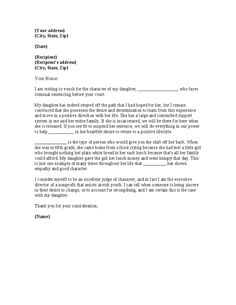 Sample Letter To The Judge Before A Loved One's Sentencing from i.pinimg.com