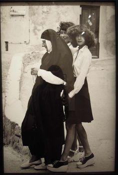 Helmut Newton in nun by Alice Spring - for Jean Louis David - 1970