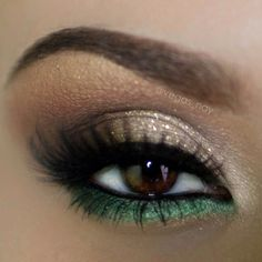 taupe shimmer and emerald