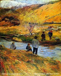 Paul Gauguin,  Les Pêcheurs Bretons, 1888. on ArtStack #paul-gauguin #art