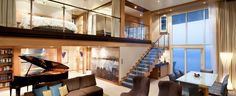 The Crown Loft Suite on the Allure of the Seas.  This is my dream cabin!  Someday...